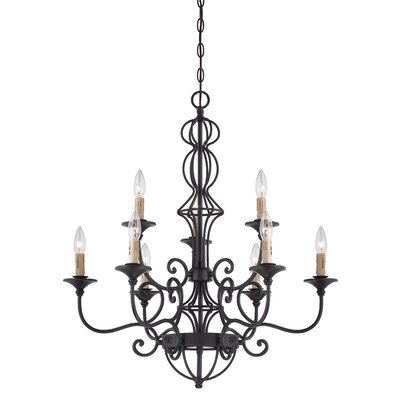 Tangier 9-Light Candle-Style Chandelier