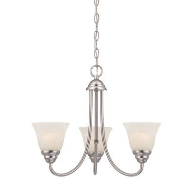 Eichelberger 3-Light Shaded Chandelier Finish: Brushed Nickel