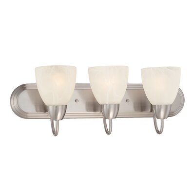Torino 3-Light Vanity Light Finish: Brushed Nickel