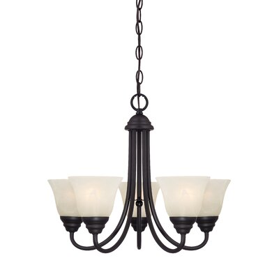 Lafayette 5-Light Shaded Chandelier Finish: Oil Rubbed Bronze