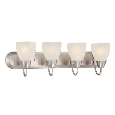 Torino 4-Light Vanity Light Finish: Brushed Nickel
