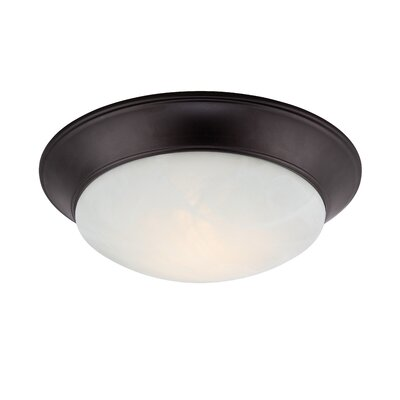 Halo 1-Light Flush Mount Finish: Oil Rubbed Bronze, Size: 3.25 H x 13.50 W x 11.50 D
