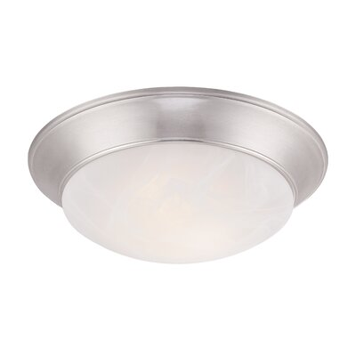 Halo 1-Light Flush Mount Finish: Brushed Nickel, Size: 3.25 H x 13.50 W x 11.50 D