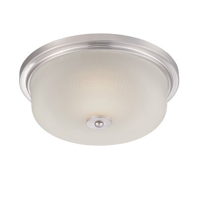 Orono Flush Mount Finish: Satin Platinum, Size: 5.25 H x 15 W x 15 D