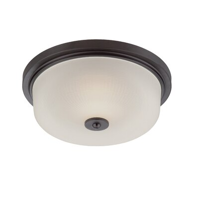 Orono Flush Mount Finish: Oil Rubbed Bronze, Size: 4.5 H x 13 W x 13 D