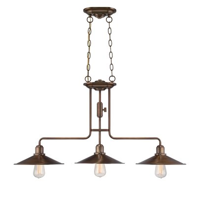 Newbury Station 3-Light Kitchen Island Pendant