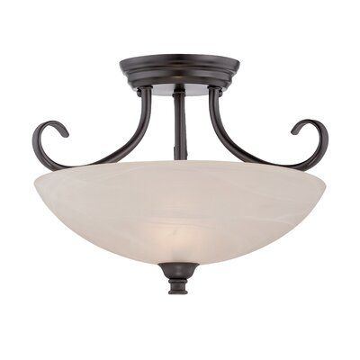 Lafayette 2-Light Semi-Flush Mount Finish: Oil Rubbed Bronze