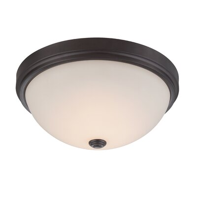 Hopkins Flush Mount Finish: Oil Rubbed Bronze, Size: 6 H x 13 W x 13 D