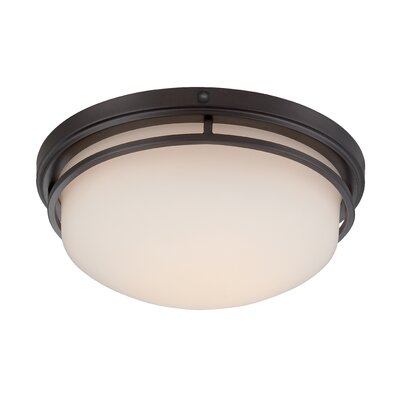 Ramsey Flush Mount Finish: Oil Rubbed Bronze, Size: 6 H x 15 W x 15 D