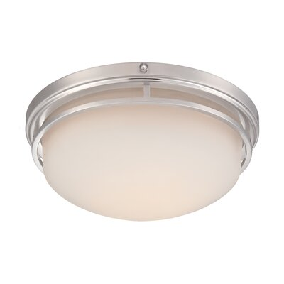 Belia Flush Mount Finish: Satin Platinum, Size: 5.25 H x 13.25 W x 13.25 D