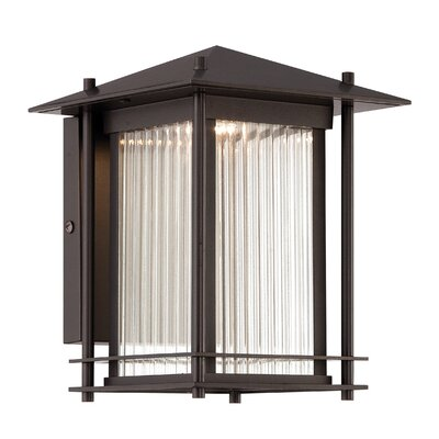 Hadley 1-Light Outdoor Wall Lantern Size: 9.38 H x 9 W x 11.38 D
