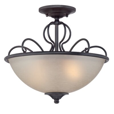 Tangier 2-Light Semi-Flush Mount