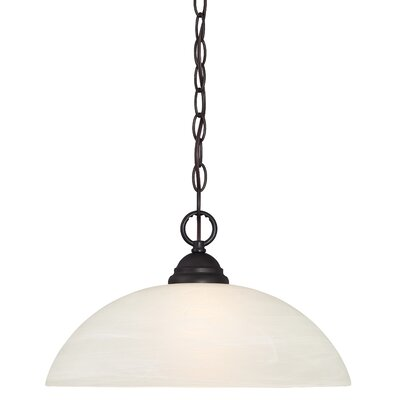Lafayette 1-Light Frosted Shade Mini Pendant Finish: Oil Rubbed Bronze