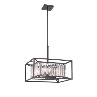 Lecia 4-Light Foyer Pendant Finish: Vintage Brass
