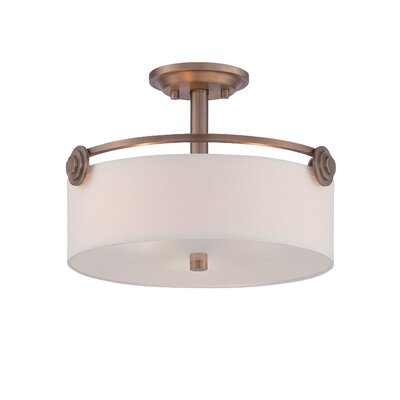Westhope 3-Light Semi Flush Mount Finish: Old Satin Brass