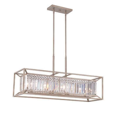 Lecia 4-Light Kitchen Island Pendant Finish: Aged Platinum