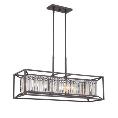 Linares 4-Light Kitchen Island Pendant Finish: Vintage Brass