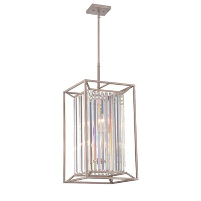 Lecia 4-Light Steel Foyer Pendant Finish: Aged Platinum