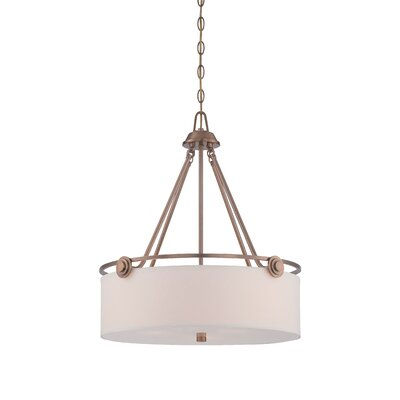 Gramercy Park 3-Light Drum Pendant Finish: Old Satin Brass
