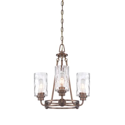 Westhope 3-Light Shaded Chandelier Finish: Old Satin Brass