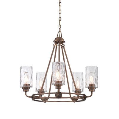 Calumet 5-Light Candle-Style Chandelier Finish: Old Satin Brass