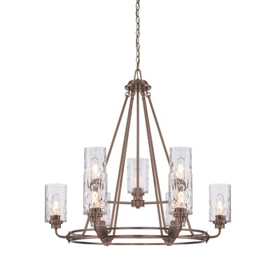 Calumet 9-Light Candle-Style Chandelier Finish: Old Satin Brass
