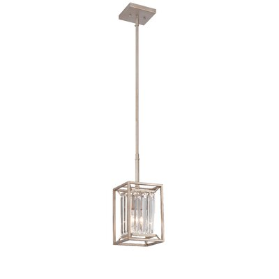 Linares 1-Light Mini Pendant Finish: Aged Platinum