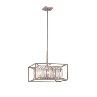 Lecia 4-Light Foyer Pendant Finish: Aged Platinum