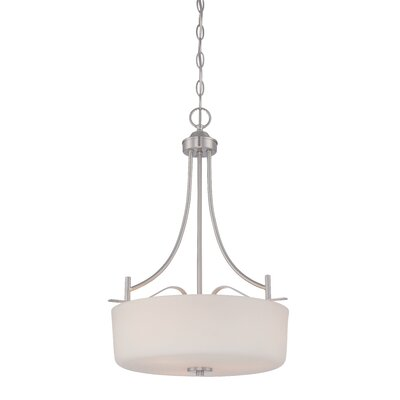 Cassina 3-Light Drum Pendant Finish: Satin Platinum