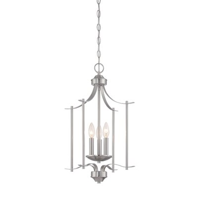 Cassina 3-Light Foyer Pendant Finish: Satin Platinum