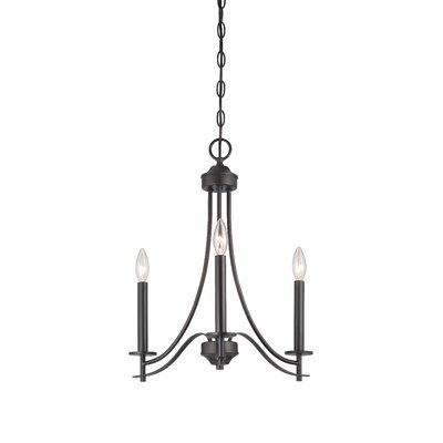 Naugatuck 3-Light Candle-Style Chandelier Finish: Biscayne Bronze