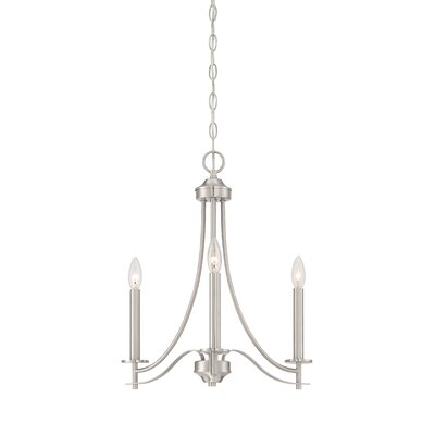 Cassina 3-Light Candle-Style Chandelier Finish: Satin Platinum