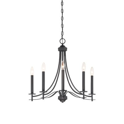 Cassina 5-Light Candle-Style Chandelier Finish: Biscayne Bronze