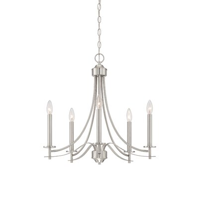 Cassina 5-Light Candle-Style Chandelier Finish: Satin Platinum