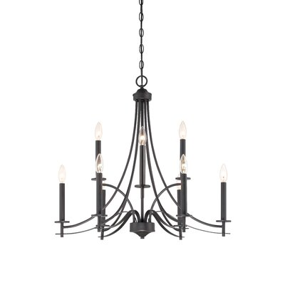 Cassina 9-Light Candle-Style Chandelier Finish: Biscayne Bronze