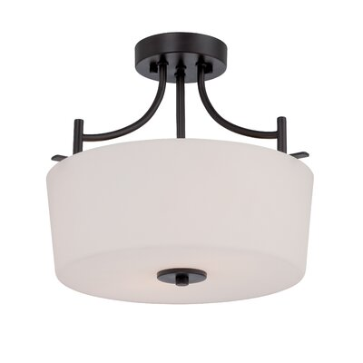 Naugatuck 2-Light Semi Flush Mount Finish: Biscayne Bronze