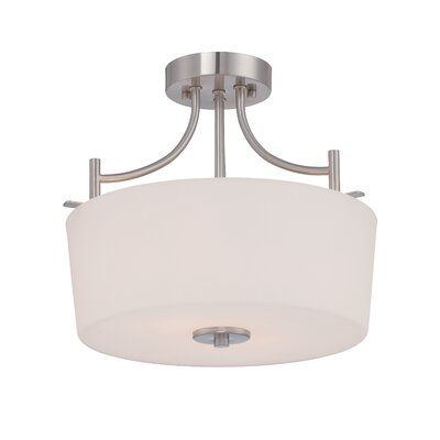 Cassina 2-Light Semi Flush Mount Finish: Satin Platinum