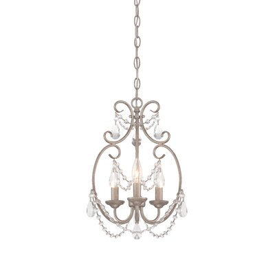 Dahlia 3-Light Crystal Chandelier
