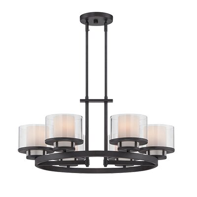 Fusion 6-Light Candle-Style Chandelier