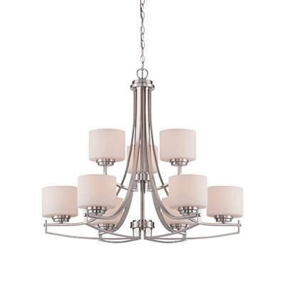 Axel 9-Light Shaded Chandelier