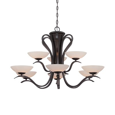 Galena 9-Light Shaded Chandelier