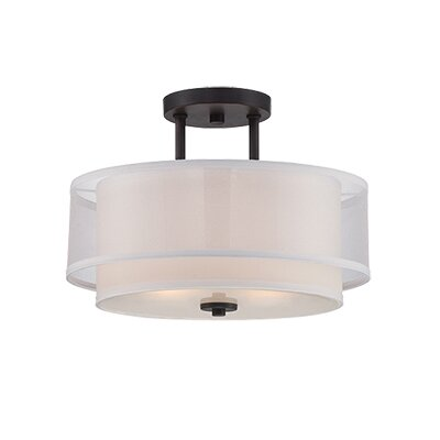 Fusion 2-Light Semi Flush Mount