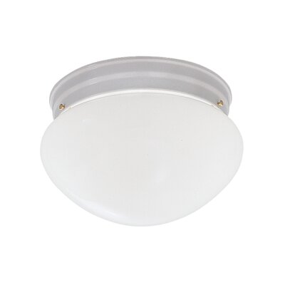 2-Light Flush Mount Finish / Size: White / 5.25 H x 9.5 W