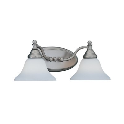 Savon 2-Light Vanity Light Finish / Shade Color: Pewter / Satin Opal