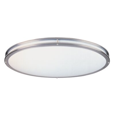 Oval Flush Mount Size: 4.75 H x 32.5 W x 18 D