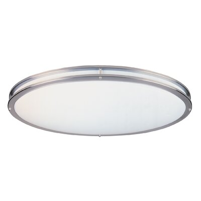 Oval Flush Mount Size: 4.75 H x 28.5 W x 14.25 D