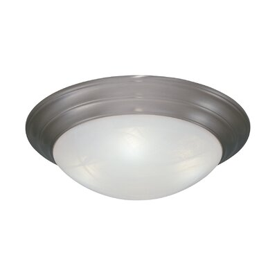 Lunar Flush Mount Finish / Size / Shade Finish: Pewter/3.75 H x 11.5 W/White Alabaster Textured