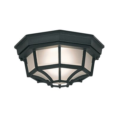 Slusser 1-Light Flush Mount Finish: Black