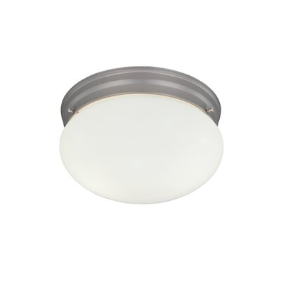 2-Light Flush Mount Finish / Size: Pewter / 5.25 H x 9.5 W