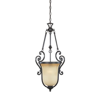 Earline 1-Light Hall/Foyer Pendant Size: 29 H x 14 W